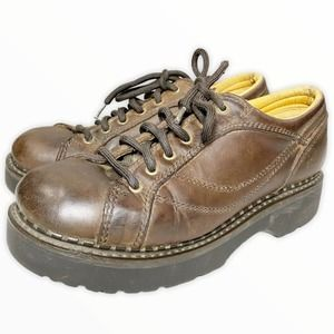 American Eagle 90s Leather Chunky Oxford Shoes Y2K